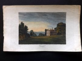 Beauties of England & Wales C1810 HCol Print. Greys Court, Oxfordshire